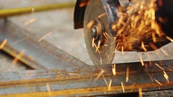 Thumbnail for Sawcutting a Metal
