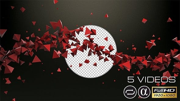 Thumbnail for Spinning Red Triangles - 5 Pack