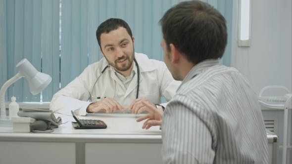 Thumbnail for Male Bearded Doctor In Clinic Offer Good Price For Treatment.