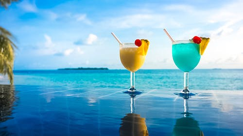 Cocktail Near The swimming Pool Maldives