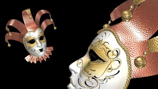 Fliegende Romantische Maske - Krone und Glocken - 2 Stück