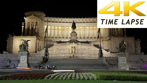 Thumbnail for View of Altare Della Patria, Rome, Italy at Night