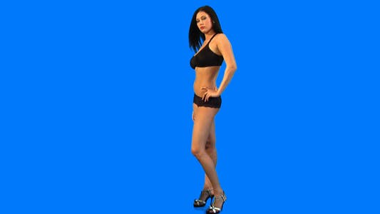 Cover Image for Girl against blue background