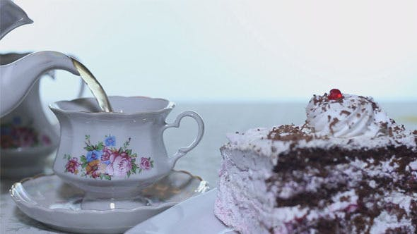 Thumbnail for Cake with a Cream Tea Party
