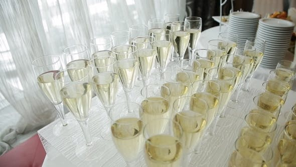 Thumbnail for Glasses of Champagne At a Wedding Cocktail Party