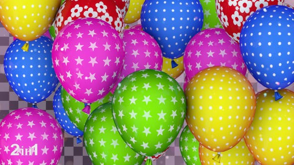 Thumbnail for Balloons Colorful Transitions (2-Pack)