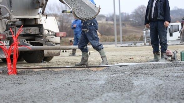 Thumbnail for Machine Drains Liquid Concrete