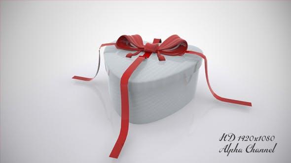 Heart Gift Box Open