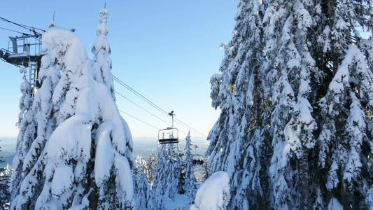 Thumbnail for Alpine Skiing Resort - 08 - Mountains, Forest, Snow, People