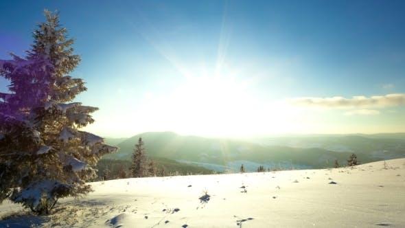Thumbnail for Sundown View In Winter Mountain