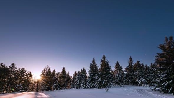 Thumbnail for Sunrise In Winter Mountain