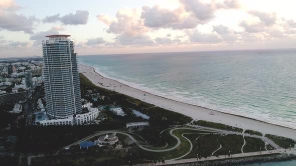 Miami Beach Aerial Sunrise