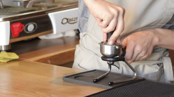 Thumbnail for Barista Prepares Espresso