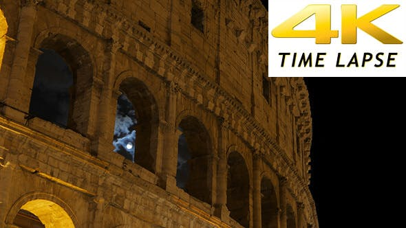 Thumbnail for View of Colosseum at Night, Rome, Italy