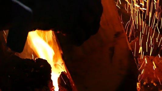 Thumbnail for Bonfire and Man - 01