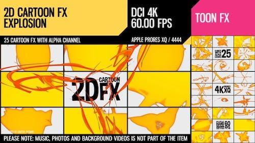 2D Cartoon FX (Explosion Set 18)