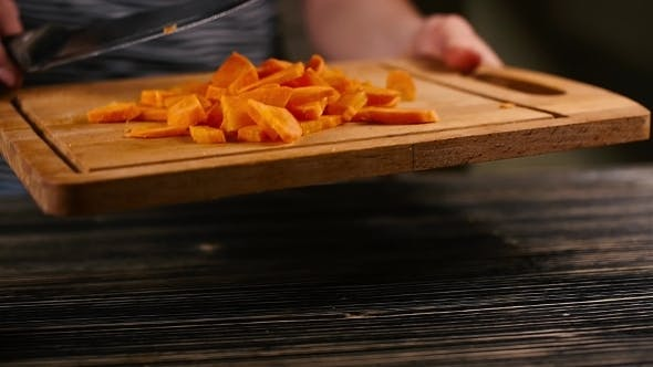 Thumbnail for Of a Chef Carefully Cutting Some Carrots