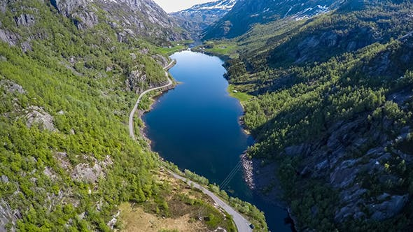 Flying Over The Lakes And Fjords