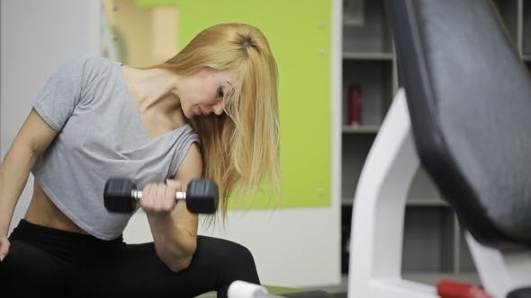 Thumbnail for Athlete Woman Lifting Dumbbell