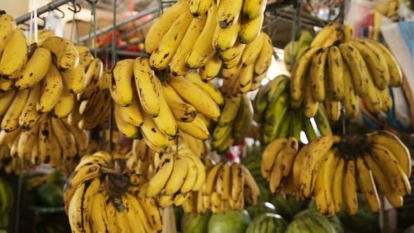 Thumbnail for Bananas In The Fruit Market