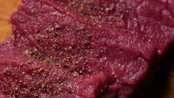 Thumbnail for Fresh Raw Meat For Steak On Wooden Cutting Board
