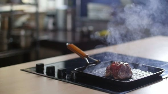 Thumbnail for Meat Is Fried In a Pan