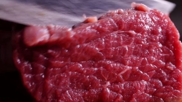 Thumbnail for Knife Cuts Raw Meat
