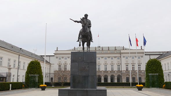 Thumbnail for Statue Of Josef Poniatowski In Front Of The Presidential Palace Warsaw