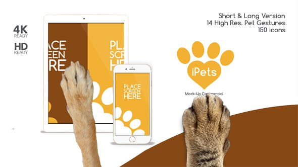 Thumbnail for Pets Flat MockUp Device Kit