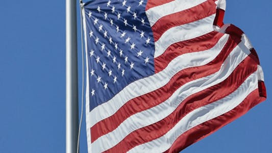 Thumbnail for USA Flag At Strong Wind