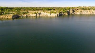 Flying Over Quarry Lake 1