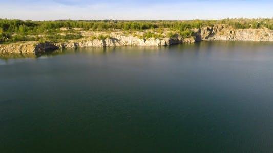 Thumbnail for Flying Over Quarry Lake 1