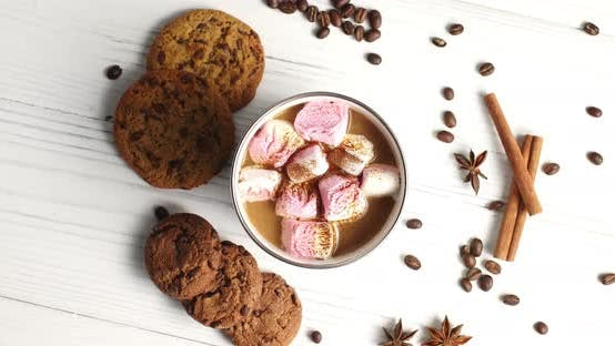 Thumbnail for Mug of Cacao with Marshmallows and Cookies