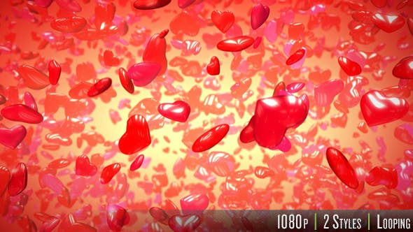 Thumbnail for 3D Hearts Shape Background