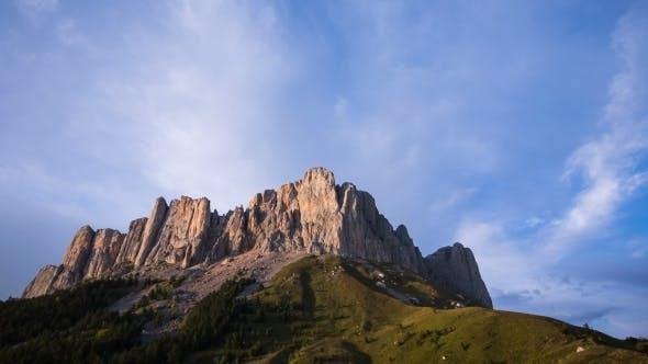 Thumbnail for Mountain Big Thach With Clouds In North Caucasus