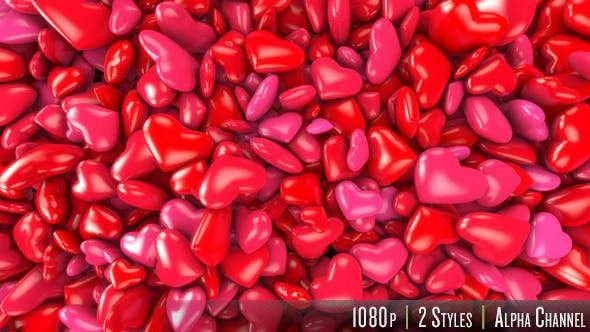 Cover Image for Hearts Fill Screen Overlay