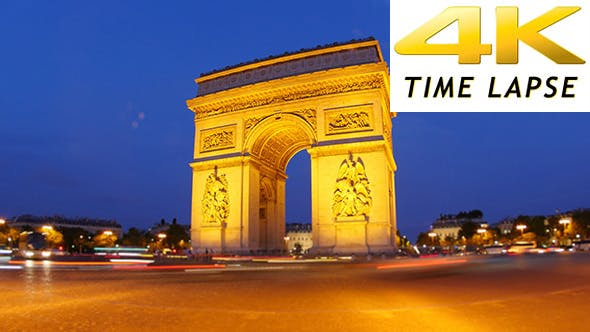 Thumbnail for Arc de Triomphe at Champs Elysees, Paris, France