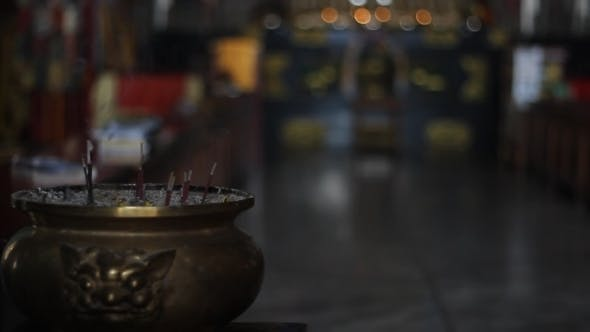 Thumbnail for Background About Buddhism, Bowl With Incense