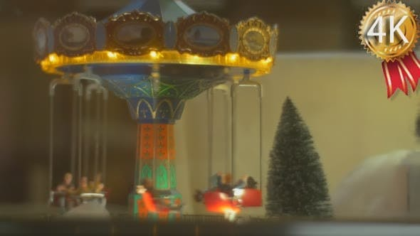 Thumbnail for Decorative Toy Carousel With Men Toys is Moving