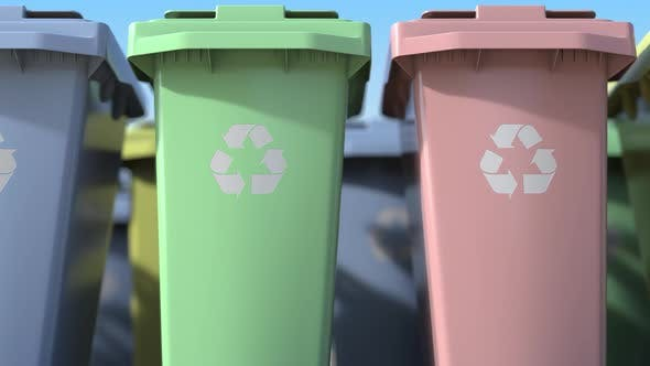 Cover Image for Plastic Bins for Sorting Domestic Garbage