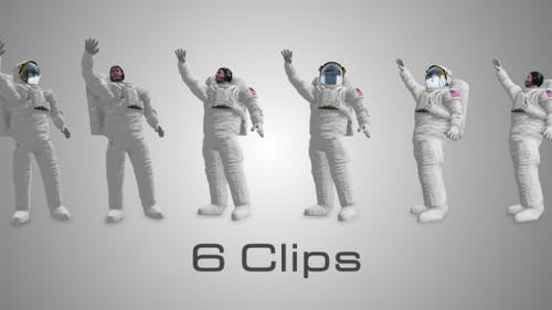 Astronaut With Hand Up