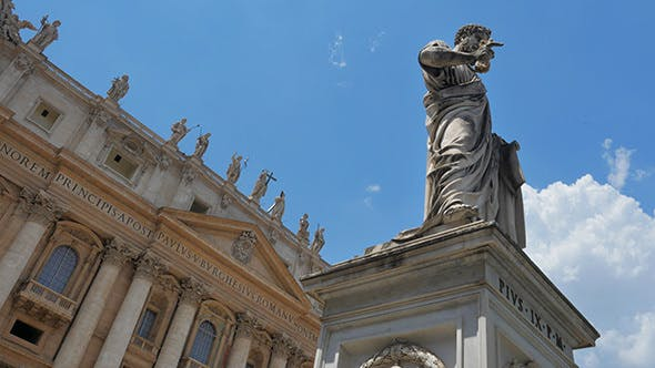 Thumbnail for View of Vatican City, St Peter's Square, Rome, Italy