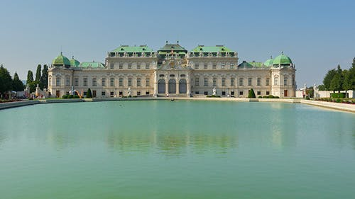 View of Belvedere Palace, Vienna, Austria