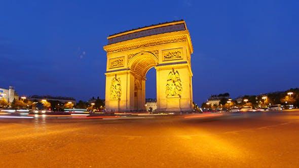 Thumbnail for Arc de Triomphe at Champs Elysees, Paris, France