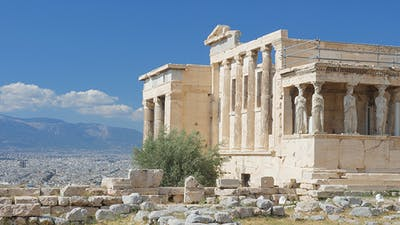 Travel View of Acropolis in Athens, Greece
