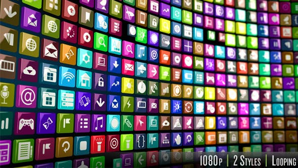 Endless Smart Phone Apps Icons
