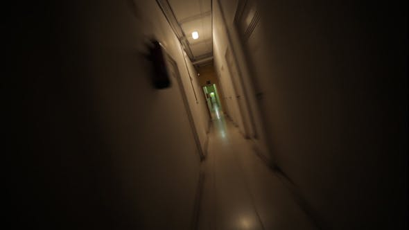 Thumbnail for Running Away From the Darkness Through a Creepy Corridor