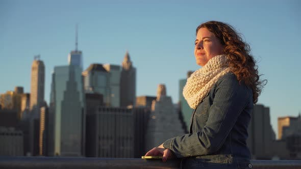 Thumbnail for Woman Looks At Nyc Skyline 8