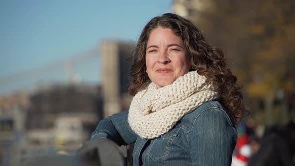 Thumbnail for A Beautiful Woman Near The Brooklyn Bridge 4