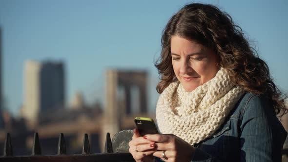Thumbnail for A Beautiful Woman Texting 2